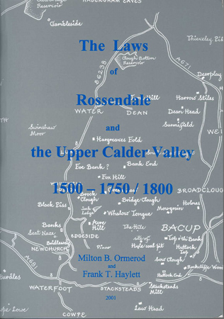 LFH-B003 The Laws of Rossendale and the Upper Calder Valley
