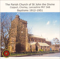 Coppull, Chorley, St John the Divine - Baptisms 1912-1951 (CD021