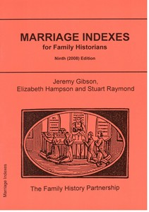 Marriage Indexes for Family Historians