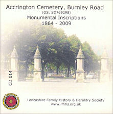 Accrington, Burnley Road Cemetery, Monumental Inscriptions CD014