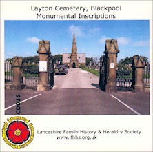 Blackpool, Layton Cemetery.  Monumental Inscriptions (CD015)