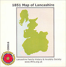 The 1851 Map Of Lancashire (CD016)