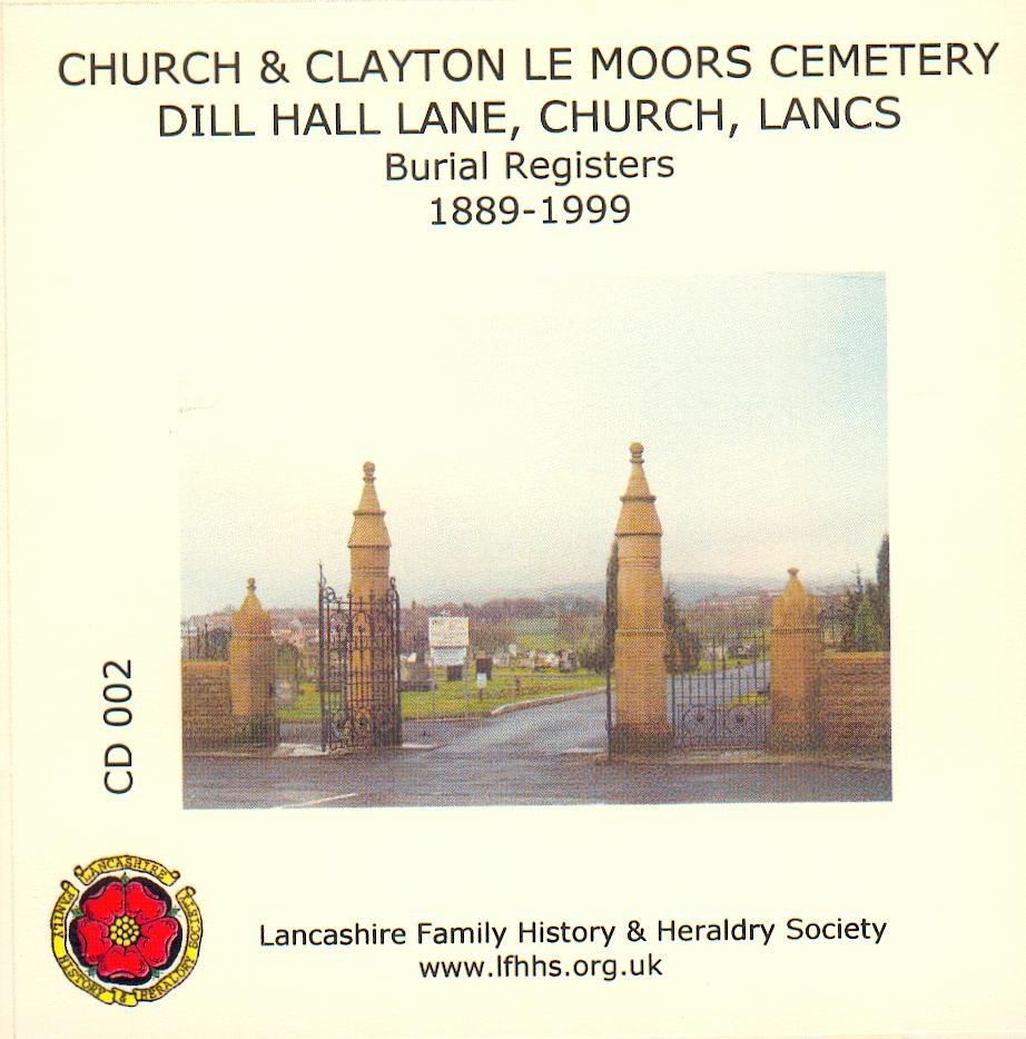 Clayton le Moors Cemetery Burial Records (CD002), Lancashire Family