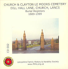Clayton le Moors Cemetery Burial Records (CD002)