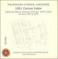 Pendle 1901 Census Index Pendle Lancashire (CD005)