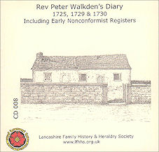 THE  REVEREND PETER WALKDEN'S DIARY (CD008)